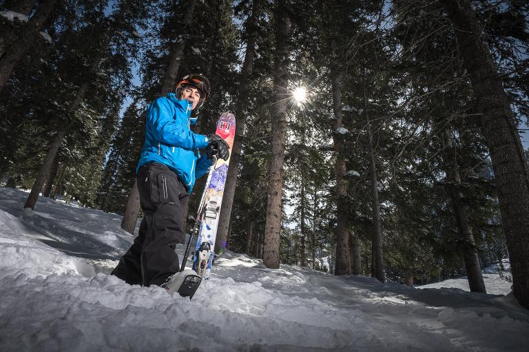 Portrait of John Fullbright shot at the Taos Ski Area near Taos, New Mexico. Image Data: Nikon D4, Nikkor 24-70mm f/2.8 lens, ISO 200, 1/200th sec at f/14.