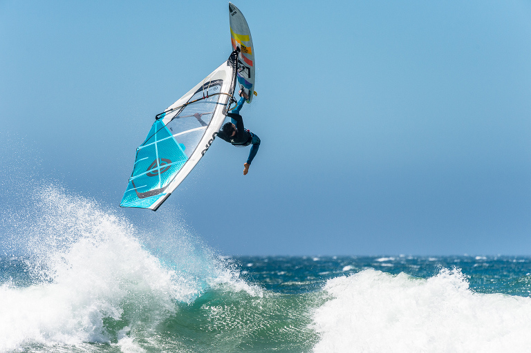 Levi Siver wind surfing in and around San Francisco, California on June 20, 2016.